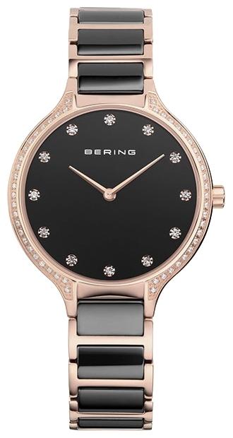 Bering 30434-746 - женские наручные часыBering<br>женские, сапфировое стекло, корпус из нерж. стали с покрытием pvd розового цвета ,  браслет из нерж. стали со вставками из керамики черного цвета, циферблат черного цвета<br><br>Бренд: Bering<br>Модель: Bering 30434-746<br>Артикул: 30434-746<br>Вариант артикула: ber-30434-746<br>Коллекция: None<br>Подколлекция: None<br>Страна: Дания<br>Пол: женские<br>Тип механизма: кварцевые<br>Механизм: None<br>Количество камней: None<br>Автоподзавод: None<br>Источник энергии: от батарейки<br>Срок службы элемента питания: None<br>Дисплей: стрелки<br>Цифры: отсутствуют<br>Водозащита: WR 30<br>Противоударные: None<br>Материал корпуса: нерж. сталь, IP покрытие (полное)<br>Материал браслета: нерж. сталь + керамика, IP покрытие (частичное)<br>Материал безеля: None<br>Стекло: сапфировое<br>Антибликовое покрытие: None<br>Цвет корпуса: None<br>Цвет браслета: None<br>Цвет циферблата: None<br>Цвет безеля: None<br>Размеры: 34 мм<br>Диаметр: None<br>Диаметр корпуса: None<br>Толщина: None<br>Ширина ремешка: None<br>Вес: None<br>Спорт-функции: None<br>Подсветка: None<br>Вставка: кристаллы Swarovski<br>Отображение даты: None<br>Хронограф: None<br>Таймер: None<br>Термометр: None<br>Хронометр: None<br>GPS: None<br>Радиосинхронизация: None<br>Барометр: None<br>Скелетон: None<br>Дополнительная информация: None<br>Дополнительные функции: None