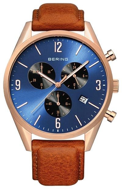 Bering 10542-467 - мужские наручные часыBering<br>мужские, сапфировое стекло,chronograph, корпус из нерж. стали с покрытием pvd золотого цвета,  ремешок из кожи теленка оранжевого цвета, циферблат синего цвета, секундная стрелка, с функцией хронографа, с числовым календарем<br><br>Бренд: Bering<br>Модель: Bering 10542-467<br>Артикул: 10542-467<br>Вариант артикула: ber-10542-467<br>Коллекция: None<br>Подколлекция: None<br>Страна: Дания<br>Пол: мужские<br>Тип механизма: кварцевые<br>Механизм: None<br>Количество камней: None<br>Автоподзавод: None<br>Источник энергии: от батарейки<br>Срок службы элемента питания: None<br>Дисплей: стрелки<br>Цифры: арабские<br>Водозащита: WR 50<br>Противоударные: None<br>Материал корпуса: нерж. сталь, IP покрытие (полное)<br>Материал браслета: кожа (не указан)<br>Материал безеля: None<br>Стекло: сапфировое<br>Антибликовое покрытие: None<br>Цвет корпуса: None<br>Цвет браслета: None<br>Цвет циферблата: None<br>Цвет безеля: None<br>Размеры: 42 мм<br>Диаметр: None<br>Диаметр корпуса: None<br>Толщина: None<br>Ширина ремешка: None<br>Вес: None<br>Спорт-функции: секундомер<br>Подсветка: стрелок<br>Вставка: None<br>Отображение даты: число<br>Хронограф: есть<br>Таймер: None<br>Термометр: None<br>Хронометр: None<br>GPS: None<br>Радиосинхронизация: None<br>Барометр: None<br>Скелетон: None<br>Дополнительная информация: None<br>Дополнительные функции: None