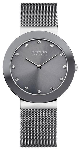 Bering 11435-389 - женские наручные часыBering<br>серая керамика ,стальной миланский браслет , перламутровый циферблат, сапфировое стекло<br><br>Бренд: Bering<br>Модель: Bering 11435-389<br>Артикул: 11435-389<br>Вариант артикула: ber-11435-389<br>Коллекция: None<br>Подколлекция: None<br>Страна: Дания<br>Пол: женские<br>Тип механизма: кварцевые<br>Механизм: None<br>Количество камней: None<br>Автоподзавод: None<br>Источник энергии: от батарейки<br>Срок службы элемента питания: None<br>Дисплей: стрелки<br>Цифры: отсутствуют<br>Водозащита: WR 50<br>Противоударные: None<br>Материал корпуса: нерж. сталь + керамика<br>Материал браслета: нерж. сталь<br>Материал безеля: None<br>Стекло: сапфировое<br>Антибликовое покрытие: None<br>Цвет корпуса: None<br>Цвет браслета: None<br>Цвет циферблата: None<br>Цвет безеля: None<br>Размеры: 35 мм<br>Диаметр: None<br>Диаметр корпуса: None<br>Толщина: None<br>Ширина ремешка: None<br>Вес: None<br>Спорт-функции: None<br>Подсветка: None<br>Вставка: кристаллы Swarovski<br>Отображение даты: None<br>Хронограф: None<br>Таймер: None<br>Термометр: None<br>Хронометр: None<br>GPS: None<br>Радиосинхронизация: None<br>Барометр: None<br>Скелетон: None<br>Дополнительная информация: None<br>Дополнительные функции: None