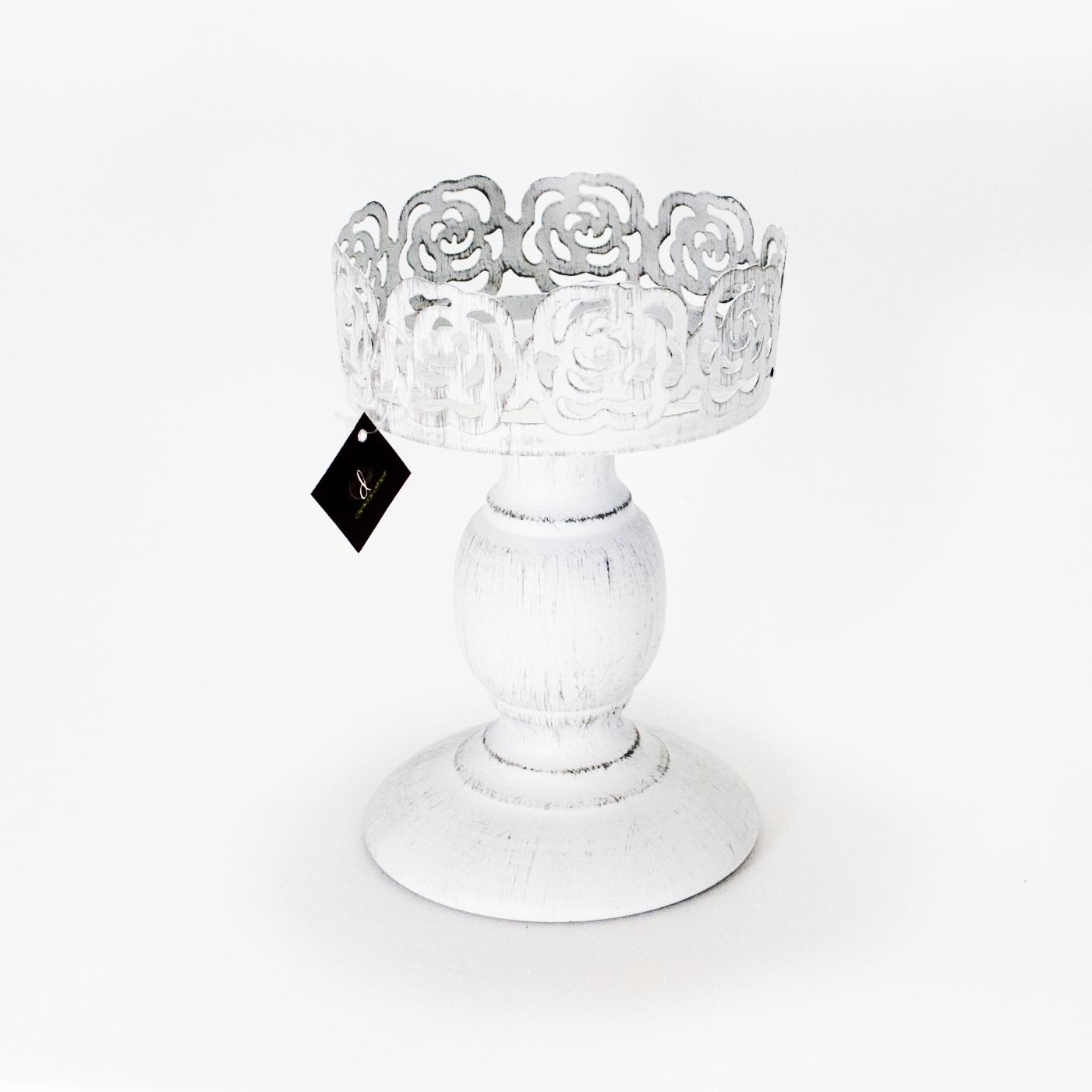 Подсвечник большой без стекла (Мебель и предметы интерьера)Мебель и предметы интерьера<br>Металлический подсвечник на ножке без стекла11x11x18,5 см Производитель: Dekoratief, Бельгия<br>