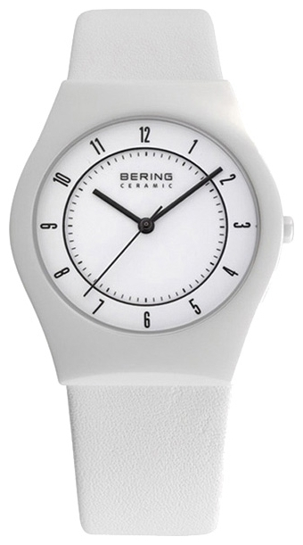 Bering 32035-654 - мужские наручные часы из коллекции CeramicBering<br>сапфировое стекло, корпус из керамики белого цвета,  ремешок из кожи теленка белого цвета, циферблат белого цвета, центральная секундная стрелка<br><br>Бренд: Bering<br>Модель: Bering 32035-654<br>Артикул: 32035-654<br>Вариант артикула: ber-32035-654<br>Коллекция: Ceramic<br>Подколлекция: None<br>Страна: Дания<br>Пол: мужские<br>Тип механизма: кварцевые<br>Механизм: None<br>Количество камней: None<br>Автоподзавод: None<br>Источник энергии: от батарейки<br>Срок службы элемента питания: None<br>Дисплей: стрелки<br>Цифры: арабские<br>Водозащита: WR 30<br>Противоударные: None<br>Материал корпуса: керамика<br>Материал браслета: кожа (теленок)<br>Материал безеля: None<br>Стекло: сапфировое<br>Антибликовое покрытие: None<br>Цвет корпуса: None<br>Цвет браслета: None<br>Цвет циферблата: None<br>Цвет безеля: None<br>Размеры: 35 мм<br>Диаметр: None<br>Диаметр корпуса: None<br>Толщина: None<br>Ширина ремешка: None<br>Вес: None<br>Спорт-функции: None<br>Подсветка: None<br>Вставка: None<br>Отображение даты: None<br>Хронограф: None<br>Таймер: None<br>Термометр: None<br>Хронометр: None<br>GPS: None<br>Радиосинхронизация: None<br>Барометр: None<br>Скелетон: None<br>Дополнительная информация: None<br>Дополнительные функции: None