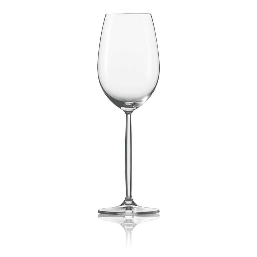 Набор из 6 бокалов для белого вина 300 мл SCHOTT ZWIESEL Diva арт. 104 097-6Бокалы и стаканы<br>Набор из 6 бокалов для белого вина 300 мл SCHOTT ZWIESEL Diva арт. 104 097-7<br><br>вид упаковки: подарочнаявысота (см): 23.0диаметр (см): 7.3материал: хрустальное стеклоназначение: для белого винаобъем (мл): 302предметов в наборе (штук): 6страна: Германия<br>Элегантные рюмки и бокалы на высоких тонких ножках серии Diva — воплощение классических форм и безупречного стиля. Эта красивая и практичная коллекция создана для разнообразных вин: белых и красных, молодых и зрелых, легких и крепких.<br>Изящный дизайн и удобные формы рюмок, бокалов и фужеров серии Diva позволит вам приятно насладиться любимым напитком, смакуя его маленькими глотками.<br>Кажущаяся хрупкость этих изделий обманчива: тритановое стекло, из которого они изготовлены, обладает невероятной прочностью, что позволяет использовать их ежедневно и мыть в посудомоечной машине, не опасаясь, что они разобьются или потеряют прозрачность и первозданный блеск.<br>