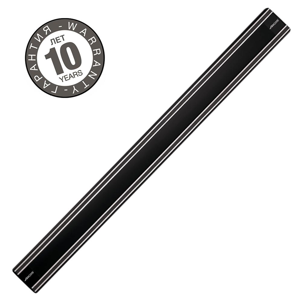 Магнитный держатель 50 см ARCOS Varios арт. 6927Магнитные держатели для ножей<br>Осовободить рабочую поверхность на небольшой кухнеисохранить ножи острыми дольше.<br>Магнитный держатель для металлических кухонных ножей, ножниц крепится на стену или дверцу шкафа. В отличие от подставки для ножей - не занимает место на рабочей поверхности. Можно повесить в любомместе, удобном для правшей и левшей. <br>Кухонные ножи при правильном хранении, когда их лезвия не соприкасаются с друг другом или иными металлическими предметами, как это случается при хранении в ящике, дольше держат заточку.<br>