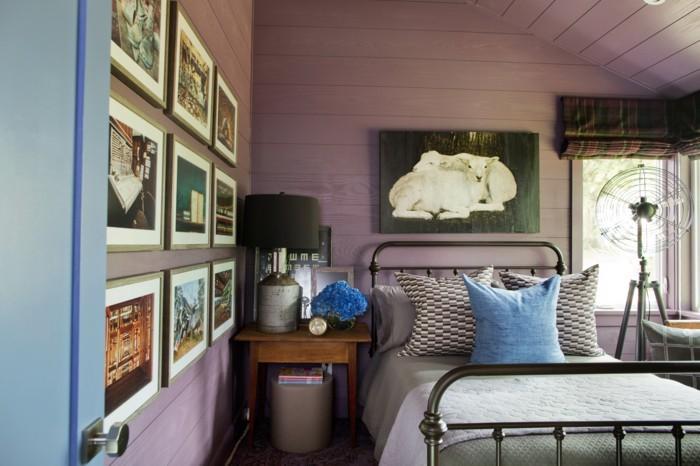 Wandfarben schlafzimmer lila