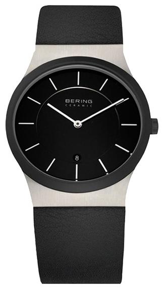 Bering 32235-442 - унисекс наручные часы из коллекции CeramicBering<br>сапфировое стекло, корпус из нерж. стали с безелем из керамики черного цвета,  ремешок из кожи теленка черного цвета, циферблат черного цвета,  с числовым календарем<br><br>Бренд: Bering<br>Модель: Bering 32235-442<br>Артикул: 32235-442<br>Вариант артикула: ber-32235-442<br>Коллекция: Ceramic<br>Подколлекция: None<br>Страна: Дания<br>Пол: унисекс<br>Тип механизма: кварцевые<br>Механизм: None<br>Количество камней: None<br>Автоподзавод: None<br>Источник энергии: от батарейки<br>Срок службы элемента питания: None<br>Дисплей: стрелки<br>Цифры: отсутствуют<br>Водозащита: WR 50<br>Противоударные: None<br>Материал корпуса: нерж. сталь + керамика<br>Материал браслета: кожа (теленок)<br>Материал безеля: None<br>Стекло: сапфировое<br>Антибликовое покрытие: None<br>Цвет корпуса: None<br>Цвет браслета: None<br>Цвет циферблата: None<br>Цвет безеля: None<br>Размеры: 35 мм<br>Диаметр: None<br>Диаметр корпуса: None<br>Толщина: None<br>Ширина ремешка: None<br>Вес: None<br>Спорт-функции: None<br>Подсветка: None<br>Вставка: None<br>Отображение даты: число<br>Хронограф: None<br>Таймер: None<br>Термометр: None<br>Хронометр: None<br>GPS: None<br>Радиосинхронизация: None<br>Барометр: None<br>Скелетон: None<br>Дополнительная информация: None<br>Дополнительные функции: None