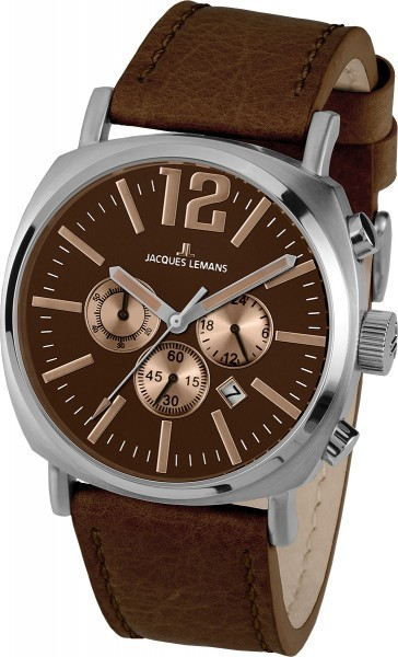 Jacques Lemans 1-1645G - мужские наручные часы из коллекции LuganoJacques Lemans<br><br><br>Бренд: Jacques Lemans<br>Модель: Jacques Lemans 1-1645G<br>Артикул: 1-1645G<br>Вариант артикула: None<br>Коллекция: Lugano<br>Подколлекция: None<br>Страна: Австрия<br>Пол: мужские<br>Тип механизма: кварцевые<br>Механизм: None<br>Количество камней: None<br>Автоподзавод: None<br>Источник энергии: от батарейки<br>Срок службы элемента питания: None<br>Дисплей: стрелки<br>Цифры: арабские<br>Водозащита: WR 10<br>Противоударные: None<br>Материал корпуса: нерж. сталь<br>Материал браслета: кожа<br>Материал безеля: None<br>Стекло: Crystex<br>Антибликовое покрытие: None<br>Цвет корпуса: None<br>Цвет браслета: None<br>Цвет циферблата: None<br>Цвет безеля: None<br>Размеры: 46 мм<br>Диаметр: None<br>Диаметр корпуса: None<br>Толщина: None<br>Ширина ремешка: None<br>Вес: None<br>Спорт-функции: секундомер<br>Подсветка: None<br>Вставка: None<br>Отображение даты: число<br>Хронограф: есть<br>Таймер: None<br>Термометр: None<br>Хронометр: None<br>GPS: None<br>Радиосинхронизация: None<br>Барометр: None<br>Скелетон: None<br>Дополнительная информация: None<br>Дополнительные функции: None