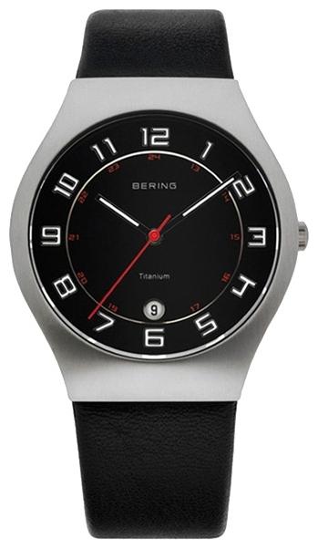 Bering 11937-402 - мужские наручные часы из коллекции ClassicBering<br>мужские,  сапфировое стекло, корпус из титана,  ремешок из кожи теленка черного цвета, циферблат черного цвета, центральная секундная стрелка, с числовым календарем<br><br>Бренд: Bering<br>Модель: Bering 11937-402<br>Артикул: 11937-402<br>Вариант артикула: ber-11937-402<br>Коллекция: Classic<br>Подколлекция: None<br>Страна: Дания<br>Пол: мужские<br>Тип механизма: кварцевые<br>Механизм: None<br>Количество камней: None<br>Автоподзавод: None<br>Источник энергии: от батарейки<br>Срок службы элемента питания: None<br>Дисплей: стрелки<br>Цифры: арабские<br>Водозащита: WR 50<br>Противоударные: None<br>Материал корпуса: титан<br>Материал браслета: кожа (теленок)<br>Материал безеля: None<br>Стекло: сапфировое<br>Антибликовое покрытие: None<br>Цвет корпуса: None<br>Цвет браслета: None<br>Цвет циферблата: None<br>Цвет безеля: None<br>Размеры: 37 мм<br>Диаметр: None<br>Диаметр корпуса: None<br>Толщина: None<br>Ширина ремешка: None<br>Вес: None<br>Спорт-функции: None<br>Подсветка: стрелок<br>Вставка: None<br>Отображение даты: число<br>Хронограф: None<br>Таймер: None<br>Термометр: None<br>Хронометр: None<br>GPS: None<br>Радиосинхронизация: None<br>Барометр: None<br>Скелетон: None<br>Дополнительная информация: дополнительная шкала от 13 до 24 часов<br>Дополнительные функции: None