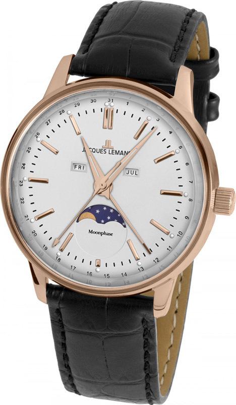 Jacques Lemans N-214B - мужские наручные часы из коллекции ClassicJacques Lemans<br><br><br>Бренд: Jacques Lemans<br>Модель: Jacques Lemans N-214B<br>Артикул: N-214B<br>Вариант артикула: None<br>Коллекция: Classic<br>Подколлекция: None<br>Страна: Австрия<br>Пол: мужские<br>Тип механизма: кварцевые<br>Механизм: None<br>Количество камней: None<br>Автоподзавод: None<br>Источник энергии: от батарейки<br>Срок службы элемента питания: None<br>Дисплей: стрелки<br>Цифры: отсутствуют<br>Водозащита: WR 5<br>Противоударные: None<br>Материал корпуса: нерж. сталь, IP покрытие (полное)<br>Материал браслета: кожа<br>Материал безеля: None<br>Стекло: органическое<br>Антибликовое покрытие: None<br>Цвет корпуса: None<br>Цвет браслета: None<br>Цвет циферблата: None<br>Цвет безеля: None<br>Размеры: 38 мм<br>Диаметр: None<br>Диаметр корпуса: None<br>Толщина: None<br>Ширина ремешка: None<br>Вес: None<br>Спорт-функции: None<br>Подсветка: стрелок<br>Вставка: None<br>Отображение даты: число, месяц, день недели<br>Хронограф: None<br>Таймер: None<br>Термометр: None<br>Хронометр: None<br>GPS: None<br>Радиосинхронизация: None<br>Барометр: None<br>Скелетон: None<br>Дополнительная информация: None<br>Дополнительные функции: указатель фаз Луны