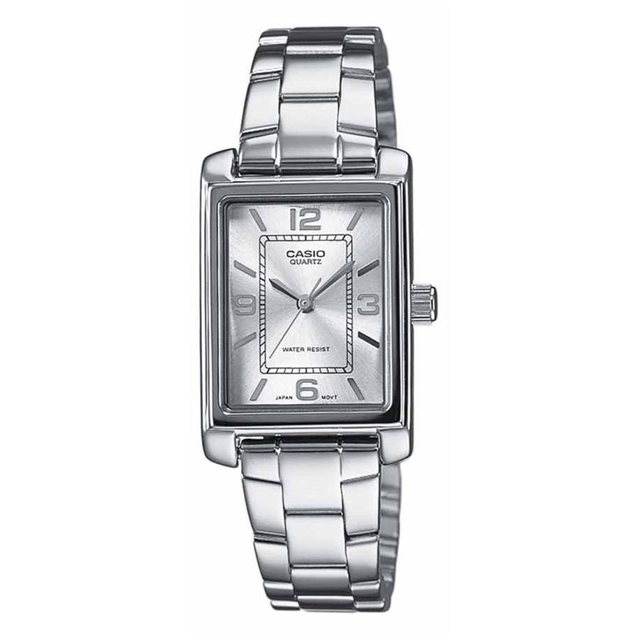Часы Casio LTP-1234PD-7AЧАСЫ CASIO<br>Характеристики:<br><br>Кварцевые часы. <br>Раскладывающаяся застежка.<br> Корпус и браслет из нержавеющей стали. <br>Минеральное стекло. <br>Размер корпуса 21х32 мм.<br>