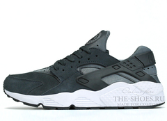 Кроссовки Мужские Nike Air Huarache Grey Suede White