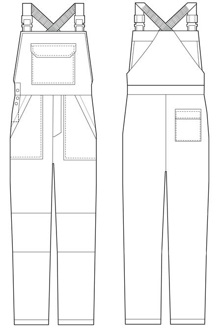Схема костюма рабочего