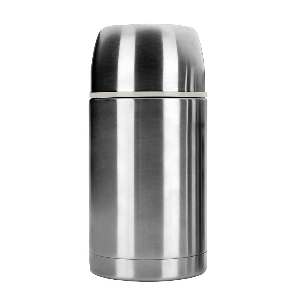 Термос для горячего 1,0 л, нержавеющая сталь, IBILI Termos арт. 753910Термосы<br>материал колбы:нержавеющая стальматериал корпуса:нержавеющая стальнаружное покрытие:нержавеющая стальобъем (мл):1000предметов в наборе (штук):1слив:отверстиестрана:Испанияудержание тепла (час):24цвет:стальной<br><br>Куда бы вы ни отправлялись: на работу, в путешествие или за город — изделия этой серии надолго сохранят температуру пищи и напитков, а также все их вкусовые свойства. Кружка-термос, выполненная из цветного сверхпрочного пластика, пригодится вам в офисе, поддерживая оптимальную температуру чая или кофе в течение нескольких часов, а плотно прилегающая крышка не даст напитку пролиться.<br>Компактные стальные термосы различного объема для горячих блюд и напитков позволят их владельцу в любое удобное время отменно пообедать домашней пищей. При этом крышка термоса отлично послужит тарелкой или стаканом, а блюда и напитки будут такими же свежими и горячими, будто их только что приготовили.<br>