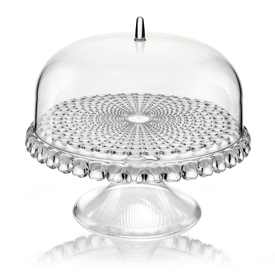 Тортовница Tiffany S прозрачная Guzzini 19940100Посуда Guzzini (Италия)<br>Тортовница Tiffany с прозрачной крышкой в форме купола украсит любой праздничный стол или чаепитие на открытом воздухе. Дизайн предмета отличается оригинальной рельефной формой, которая в сочетании с прозрачным материалом заставляет поверхность сверкать и переливаться на свету.<br><br>Тортовница идеально подойдет для подачи выпечки, сладостей, закусок и, конечно, тортов. Крышка защитит продукты от заветривания, насекомых и других внешних факторов, что особенно важно для сервировки на свежем воздухе.<br><br>Диаметр - 30 см. Изготовлена из высококачественного органического стекла, устойчивого к износу и повреждениям. Не содержит вредных примесей и бисфенола-А. Моется вручную.<br>