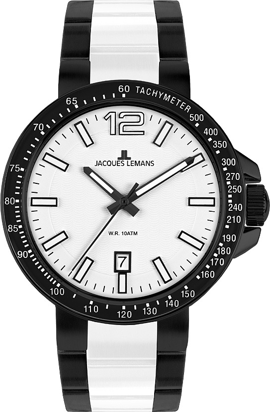 Jacques Lemans 1-1711F - мужские наручные часыJacques Lemans<br><br><br>Бренд: Jacques Lemans<br>Модель: Jacques Lemans 1-1711F<br>Артикул: 1-1711F<br>Вариант артикула: None<br>Коллекция: None<br>Подколлекция: None<br>Страна: Австрия<br>Пол: мужские<br>Тип механизма: кварцевые<br>Механизм: None<br>Количество камней: None<br>Автоподзавод: None<br>Источник энергии: от батарейки<br>Срок службы элемента питания: None<br>Дисплей: стрелки<br>Цифры: арабские<br>Водозащита: WR 10<br>Противоударные: None<br>Материал корпуса: нерж. сталь, IP покрытие (полное)<br>Материал браслета: нерж. сталь + керамика, IP покрытие (частичное)<br>Материал безеля: None<br>Стекло: Crystex<br>Антибликовое покрытие: None<br>Цвет корпуса: None<br>Цвет браслета: None<br>Цвет циферблата: None<br>Цвет безеля: None<br>Размеры: 42 мм<br>Диаметр: None<br>Диаметр корпуса: None<br>Толщина: None<br>Ширина ремешка: None<br>Вес: None<br>Спорт-функции: None<br>Подсветка: стрелок<br>Вставка: None<br>Отображение даты: число<br>Хронограф: None<br>Таймер: None<br>Термометр: None<br>Хронометр: None<br>GPS: None<br>Радиосинхронизация: None<br>Барометр: None<br>Скелетон: None<br>Дополнительная информация: None<br>Дополнительные функции: None