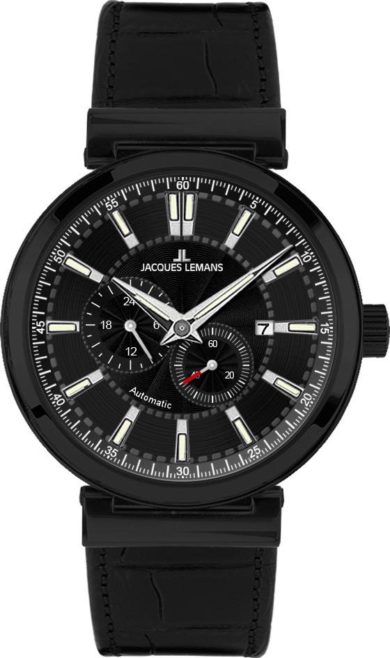 Jacques Lemans 1-1730C - мужские наручные часы из коллекции VeronaJacques Lemans<br><br><br>Бренд: Jacques Lemans<br>Модель: Jacques Lemans 1-1730C<br>Артикул: 1-1730C<br>Вариант артикула: None<br>Коллекция: Verona<br>Подколлекция: None<br>Страна: Австрия<br>Пол: мужские<br>Тип механизма: механические<br>Механизм: None<br>Количество камней: None<br>Автоподзавод: None<br>Источник энергии: пружинный механизм<br>Срок службы элемента питания: None<br>Дисплей: стрелки<br>Цифры: отсутствуют<br>Водозащита: WR 50<br>Противоударные: None<br>Материал корпуса: нерж. сталь, IP покрытие (полное)<br>Материал браслета: кожа<br>Материал безеля: None<br>Стекло: минеральное<br>Антибликовое покрытие: None<br>Цвет корпуса: None<br>Цвет браслета: None<br>Цвет циферблата: None<br>Цвет безеля: None<br>Размеры: 44 мм<br>Диаметр: None<br>Диаметр корпуса: None<br>Толщина: None<br>Ширина ремешка: None<br>Вес: None<br>Спорт-функции: None<br>Подсветка: стрелок<br>Вставка: None<br>Отображение даты: число<br>Хронограф: None<br>Таймер: None<br>Термометр: None<br>Хронометр: None<br>GPS: None<br>Радиосинхронизация: None<br>Барометр: None<br>Скелетон: None<br>Дополнительная информация: None<br>Дополнительные функции: второй часовой пояс