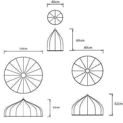 Как сделать круглый купол из бумаги