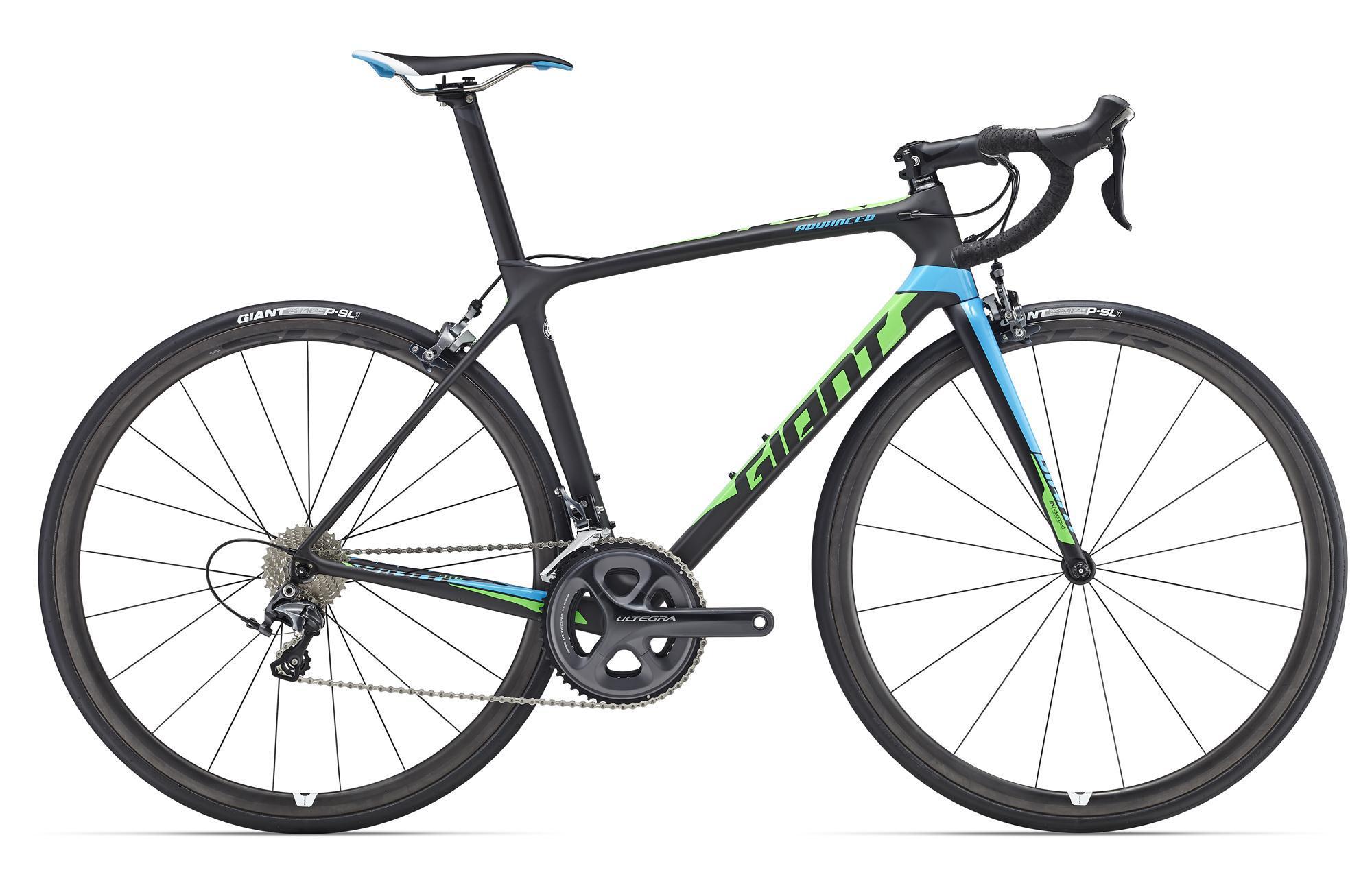 Giant TCR Advanced Pro 1 (2016)Дорожные<br>Дорога к шоссейным подиумам длинна и терниста, она проходит через долгие усердные тренировки и напряженные критические моменты гонки. Преодолеть ее будет гораздо проще с профессиональным велосипедом, предназначенным именно для соревнований – Giant TCR Advanced Pro. Эта рама из карбона Т-700 прекрасно введет себя на подъемах, спусках и в спринтах, ей не достаточно быть идеальной в какой-то одной области.<br>Соотношение веса и жесткости, легендарная геометрия серии TCR и агрессивная посадка – все это элементы, которые вместе создают быстрый и удобный шоссейный велосипед, настроенный на победы. Трансмиссия Shimano Ultegra 2х11 работает четко, быстро и бесшумно. Для снижения веса карбон использован где только можно – из него сделаны вынос и руль Giant Contact SL, а также обода вилсета Giant SLR 1. И пусть ваш успех будет таким же легким, как Giant TCR Advanced Pro!<br>
