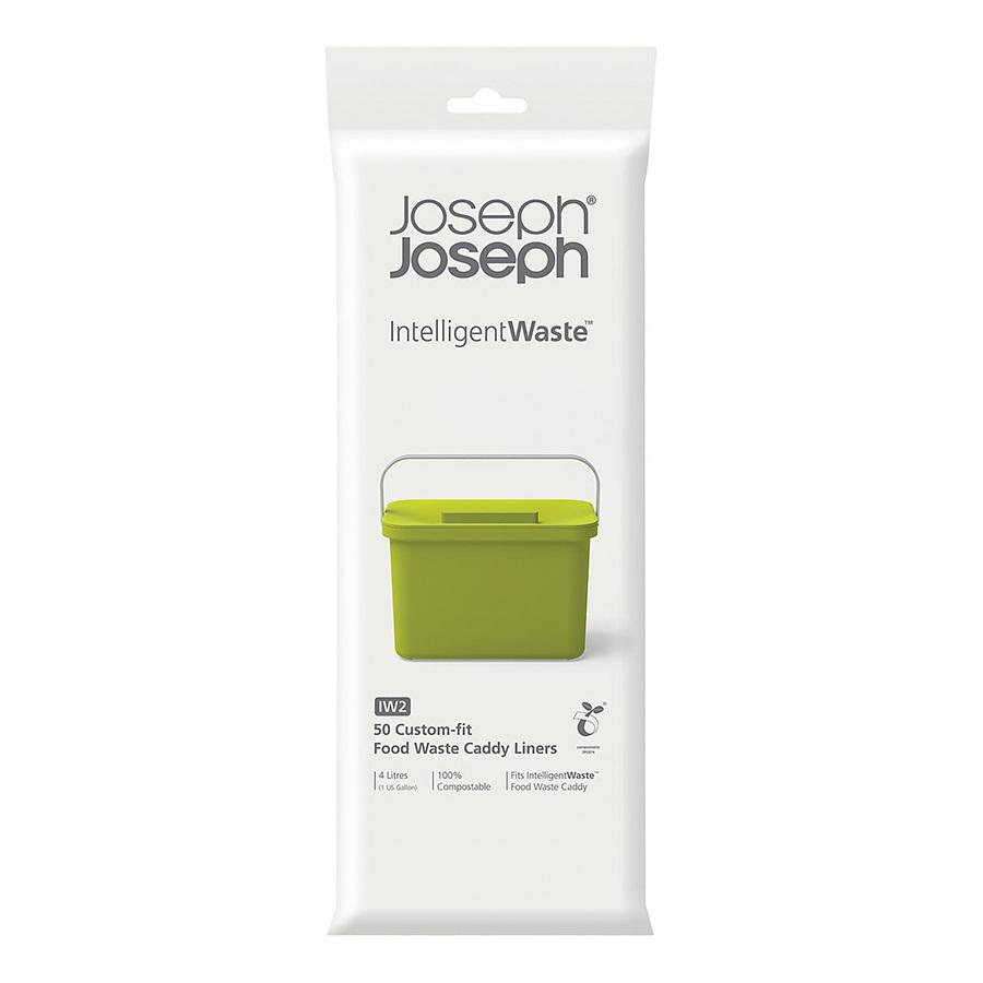 Пакеты для мусора Joseph Joseph Food waste (50 штук) 30007Кухонные принадлежности Joseph Joseph (Великобритания)<br>Набор из 50 пакетов для сбора мусора из перерабатываемого пластика. Компактно крепятся на ёмкость для пищевых отходов контейнера Тотем .<br>Официальный продавец<br>