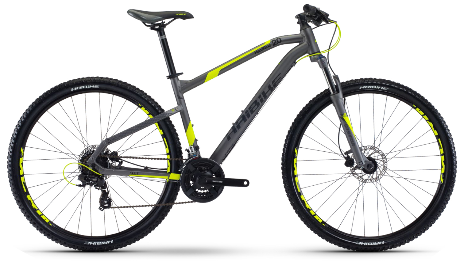 Haibike Seet Hard Nine 2.0 (2017)Горные<br>Haibike Seet HardNine 2.0 – это горный велосипед, который идеально подойдет для катания по пересеченной местности и городским паркам. Благодаря мягкой вилке SR Suntour XCT HLO DS Lockout с ходом 150 мм и возможностью блокировка хода вы всегда сможете настроить байк для определенного типа дороги. Навесное оборудование Shimano Altus M313 и Shimano Acera M360 позволят четко и быстро подобрать передачу как для крутого спуска, так и для длительного подъема.<br>
