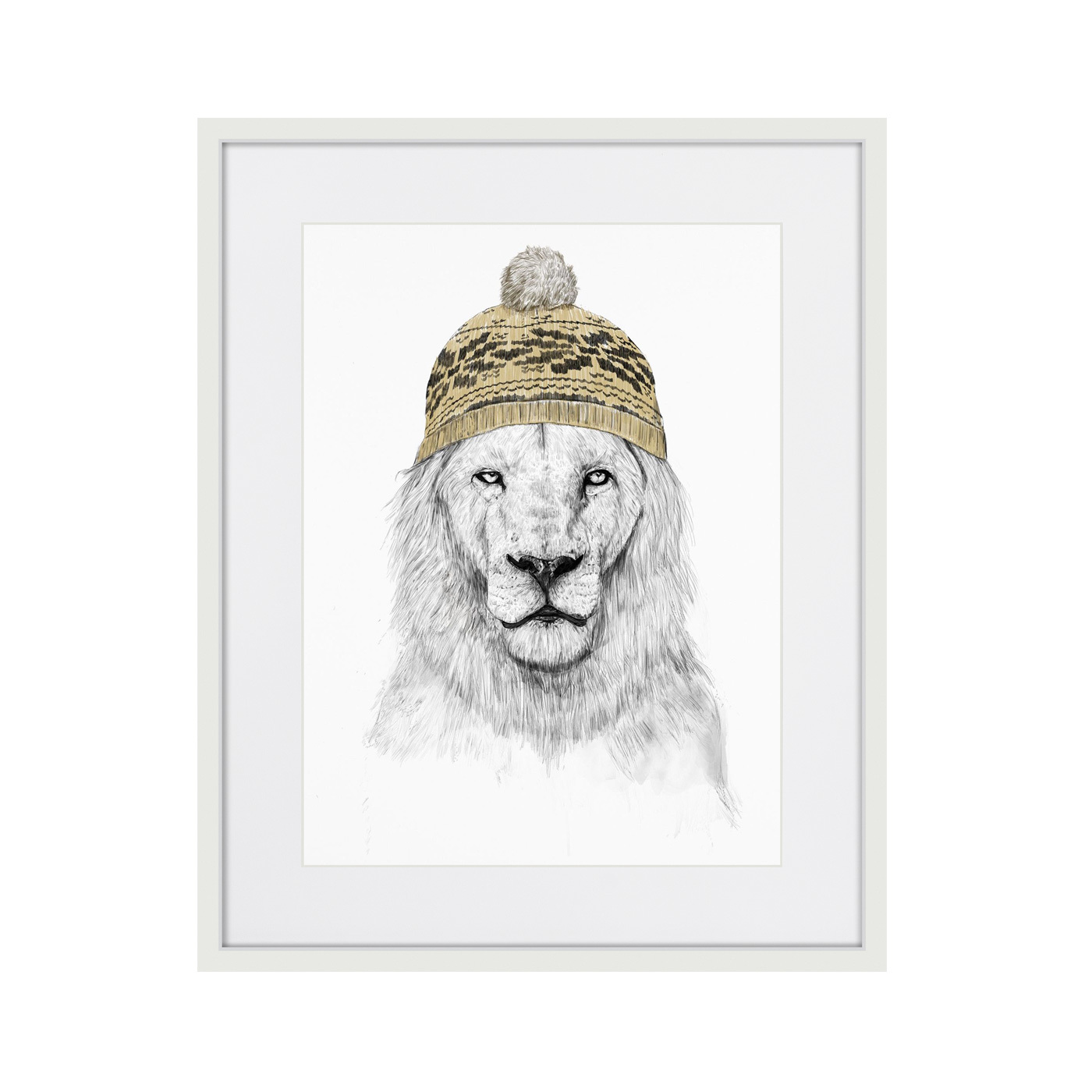 Lion in a hat