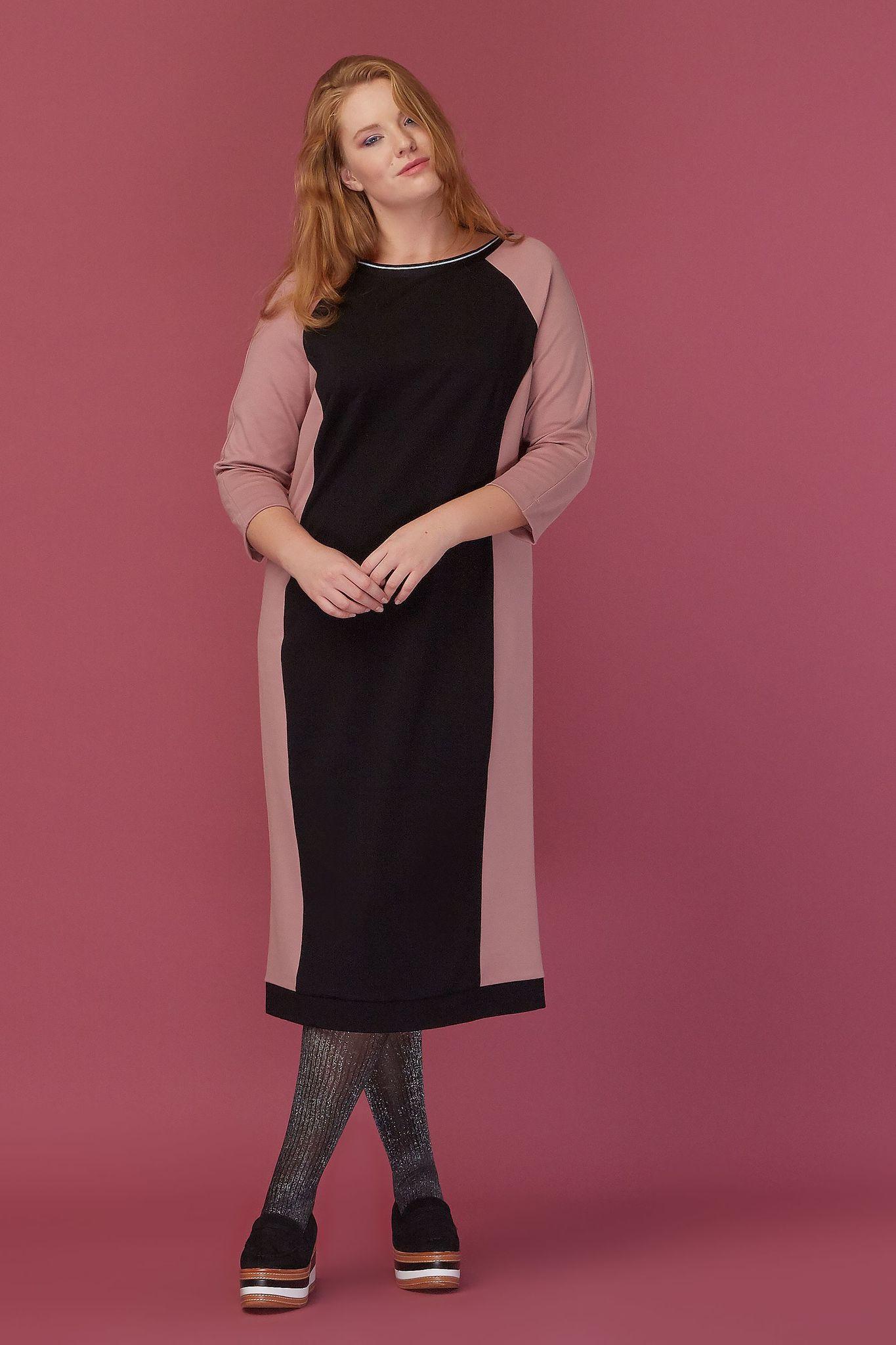 Платье колорблок LE-08 D03 01/12Сейчас покупают<br>Кеды или каблук? Создавая это платье мы так и не смогли определиться, с чем же его лучше носить. Не смогли потому, что оно идеально с любой обувью. И с любыми аксессуарами. Оно в принципе идеально. Геометрические полоски делают платье строгим и, отчасти, деловым. Однако выбранная цветовая гамма позволяет относить его в стилю casual, и надевать его как на романтический променад или дружеские посиделки, так и на важные переговоры. Длина на ладонь ниже колена. Рост модели на фото 179 см, размер - 52 российский<br>