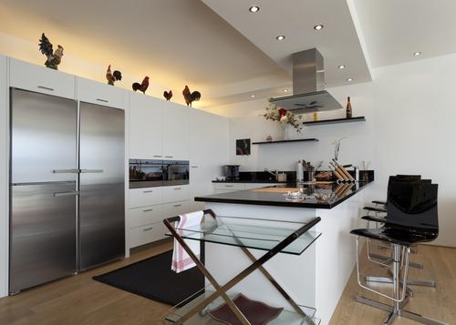 Cucina moderna mansarda