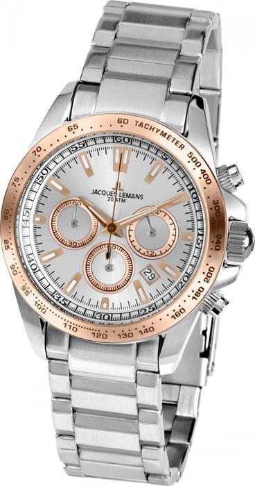 Jacques Lemans 1-1836J - мужские наручные часы из коллекции LiverpoolJacques Lemans<br><br><br>Бренд: Jacques Lemans<br>Модель: Jacques Lemans 1-1836J<br>Артикул: 1-1836J<br>Вариант артикула: None<br>Коллекция: Liverpool<br>Подколлекция: None<br>Страна: Австрия<br>Пол: мужские<br>Тип механизма: кварцевые<br>Механизм: None<br>Количество камней: None<br>Автоподзавод: None<br>Источник энергии: от батарейки<br>Срок службы элемента питания: None<br>Дисплей: стрелки<br>Цифры: отсутствуют<br>Водозащита: WR 20<br>Противоударные: None<br>Материал корпуса: нерж. сталь, IP покрытие (частичное)<br>Материал браслета: нерж. сталь<br>Материал безеля: None<br>Стекло: Crystex<br>Антибликовое покрытие: None<br>Цвет корпуса: None<br>Цвет браслета: None<br>Цвет циферблата: None<br>Цвет безеля: None<br>Размеры: 41 мм<br>Диаметр: None<br>Диаметр корпуса: None<br>Толщина: None<br>Ширина ремешка: None<br>Вес: None<br>Спорт-функции: секундомер<br>Подсветка: стрелок<br>Вставка: None<br>Отображение даты: число<br>Хронограф: есть<br>Таймер: None<br>Термометр: None<br>Хронометр: None<br>GPS: None<br>Радиосинхронизация: None<br>Барометр: None<br>Скелетон: None<br>Дополнительная информация: None<br>Дополнительные функции: None