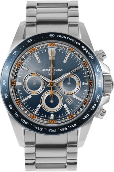 Jacques Lemans 1-1836G - мужские наручные часы из коллекции LiverpoolJacques Lemans<br><br><br>Бренд: Jacques Lemans<br>Модель: Jacques Lemans 1-1836G<br>Артикул: 1-1836G<br>Вариант артикула: None<br>Коллекция: Liverpool<br>Подколлекция: None<br>Страна: Австрия<br>Пол: мужские<br>Тип механизма: кварцевые<br>Механизм: None<br>Количество камней: None<br>Автоподзавод: None<br>Источник энергии: от батарейки<br>Срок службы элемента питания: None<br>Дисплей: стрелки<br>Цифры: отсутствуют<br>Водозащита: WR 200<br>Противоударные: None<br>Материал корпуса: нерж. сталь<br>Материал браслета: нерж. сталь<br>Материал безеля: None<br>Стекло: минеральное<br>Антибликовое покрытие: None<br>Цвет корпуса: None<br>Цвет браслета: None<br>Цвет циферблата: None<br>Цвет безеля: None<br>Размеры: 41 мм<br>Диаметр: None<br>Диаметр корпуса: None<br>Толщина: None<br>Ширина ремешка: None<br>Вес: None<br>Спорт-функции: секундомер<br>Подсветка: стрелок<br>Вставка: None<br>Отображение даты: число<br>Хронограф: есть<br>Таймер: None<br>Термометр: None<br>Хронометр: None<br>GPS: None<br>Радиосинхронизация: None<br>Барометр: None<br>Скелетон: None<br>Дополнительная информация: None<br>Дополнительные функции: None