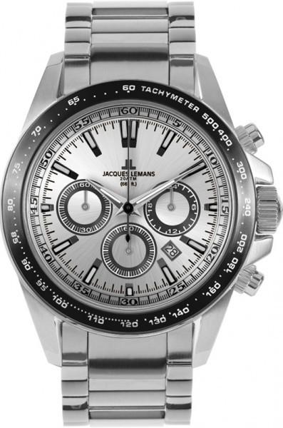 Jacques Lemans 1-1836F - мужские наручные часы из коллекции LiverpoolJacques Lemans<br><br><br>Бренд: Jacques Lemans<br>Модель: Jacques Lemans 1-1836F<br>Артикул: 1-1836F<br>Вариант артикула: None<br>Коллекция: Liverpool<br>Подколлекция: None<br>Страна: Австрия<br>Пол: мужские<br>Тип механизма: кварцевые<br>Механизм: None<br>Количество камней: None<br>Автоподзавод: None<br>Источник энергии: от батарейки<br>Срок службы элемента питания: None<br>Дисплей: стрелки<br>Цифры: отсутствуют<br>Водозащита: WR 200<br>Противоударные: None<br>Материал корпуса: нерж. сталь<br>Материал браслета: нерж. сталь<br>Материал безеля: None<br>Стекло: минеральное<br>Антибликовое покрытие: None<br>Цвет корпуса: None<br>Цвет браслета: None<br>Цвет циферблата: None<br>Цвет безеля: None<br>Размеры: 41 мм<br>Диаметр: None<br>Диаметр корпуса: None<br>Толщина: None<br>Ширина ремешка: None<br>Вес: None<br>Спорт-функции: секундомер<br>Подсветка: стрелок<br>Вставка: None<br>Отображение даты: число<br>Хронограф: есть<br>Таймер: None<br>Термометр: None<br>Хронометр: None<br>GPS: None<br>Радиосинхронизация: None<br>Барометр: None<br>Скелетон: None<br>Дополнительная информация: None<br>Дополнительные функции: None