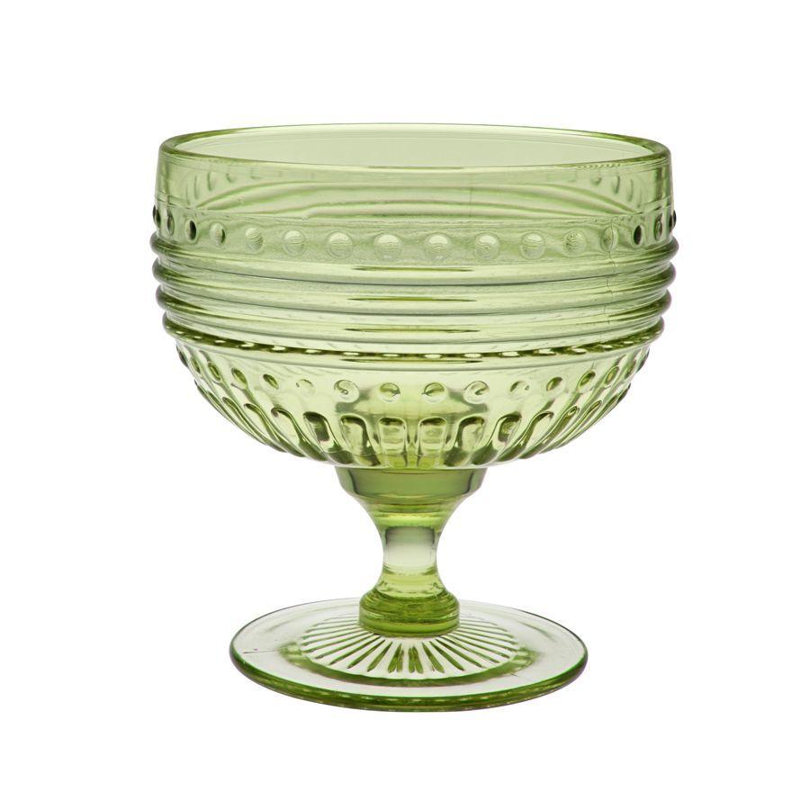 Campania Серия стекла Campania (Casa Alegre)<br>Campania Креманка цвет Эмеральд (зеленый)<br>Высота 124 мм, емкость 420 мл<br>Материал - стекло<br>Бренд Casa Alegre<br>Производитель: Vista Alegre Atlantis, Португалия<br>