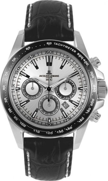 Jacques Lemans 1-1836A - мужские наручные часы из коллекции LiverpoolJacques Lemans<br><br><br>Бренд: Jacques Lemans<br>Модель: Jacques Lemans 1-1836A<br>Артикул: 1-1836A<br>Вариант артикула: None<br>Коллекция: Liverpool<br>Подколлекция: None<br>Страна: Австрия<br>Пол: мужские<br>Тип механизма: кварцевые<br>Механизм: None<br>Количество камней: None<br>Автоподзавод: None<br>Источник энергии: от батарейки<br>Срок службы элемента питания: None<br>Дисплей: стрелки<br>Цифры: отсутствуют<br>Водозащита: WR 20<br>Противоударные: None<br>Материал корпуса: нерж. сталь<br>Материал браслета: кожа<br>Материал безеля: None<br>Стекло: Crystex<br>Антибликовое покрытие: None<br>Цвет корпуса: None<br>Цвет браслета: None<br>Цвет циферблата: None<br>Цвет безеля: None<br>Размеры: 41 мм<br>Диаметр: None<br>Диаметр корпуса: None<br>Толщина: None<br>Ширина ремешка: None<br>Вес: None<br>Спорт-функции: секундомер<br>Подсветка: стрелок<br>Вставка: None<br>Отображение даты: число<br>Хронограф: есть<br>Таймер: None<br>Термометр: None<br>Хронометр: None<br>GPS: None<br>Радиосинхронизация: None<br>Барометр: None<br>Скелетон: None<br>Дополнительная информация: None<br>Дополнительные функции: None