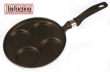 Литая сковорода для оладий Risoli Induction 25см 00106MIN/25TБлинницы<br>Литая сковорода для оладий Risoli Induction 25см 00106MIN/25T<br><br>Вся продукция торговой марки Risoli (Ризоли) производится исключительно в Италии. Компания Risoli является лидером в производстве литой посуды из алюминия. На фабриках Risoli размещают свои заказы на производство посуды свыше 20 других европейких компаний из Италии, Испании, Германии, Швейцарии и других стран. Посуда Risoli отливается из новейшего пищевого алюминиевого сплава EcoCast. Этот сплав был специально разработан для производства литой посуды премиум класса. Массовая доля алюминия в этом сплаве достигает 98%, в то время, как в других сплавах, использующихся для производства литой посуды, этот показатель не выше 80%. Сверхпрочное титановое покрытие Titanium 3®, установленное по технологии Plasma Spray на подложку из оксида титана – сверхпрочной керамики. Верхний антипригарный слой выполнен на водной основе. Это лучший выбор для посуды класса Премиум. Антипригарные покрытия, используемые компанией Risoli для производства своей посуды, не содержат PFOA (перфтороктановую кислоту). Они абсолютно антипригарные и безопасные. Компания Risoli всегда использует только самые современные разработки и технологии, всегда стараясь быть на шаг впереди. Посуда Risoli линии Induction создавалась специально для использования на индукционных плитах. Вся посуда Risoli Induction имеет цельный стальной диск толщиной 2мм., интегрированный в литое дно. Такая конструкция индукционного дна обеспечивает максимально быстрое нагревание посуды и существенную экономию электроэнергии. Сковороды мелкие Risoli линии Induction имеют дно толщиной 8мм., глубокие 10мм. Кастрюли, сотейники и ковши Risoli линии Induction имеют дно толщиной 9мм. Такая посуда сохраняет тепло также долго, как чугунная, однако в отличии от чугунной, к ней не прилипает пища во время готовки! Технология HEAT (High - Even - Advanced - Technology) для идеально равномерного распределе