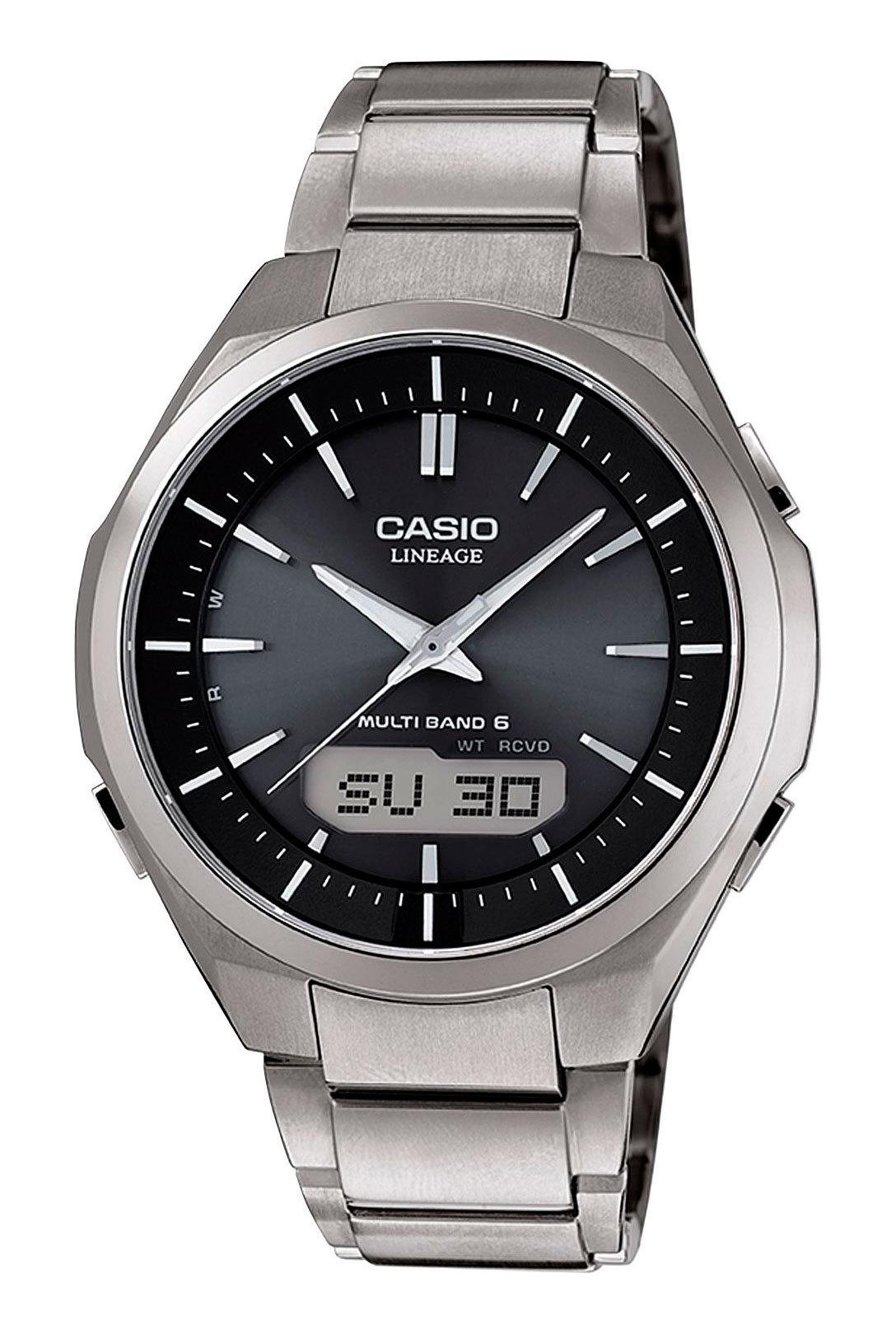 Casio Lineage LCW-M500TD-1A / LCW-M500TD-1AER - мужские наручные часыCasio<br><br><br>Бренд: Casio<br>Модель: Casio LCW-M500TD-1A<br>Артикул: LCW-M500TD-1A<br>Вариант артикула: LCW-M500TD-1AER<br>Коллекция: Lineage<br>Подколлекция: None<br>Страна: Япония<br>Пол: мужские<br>Тип механизма: кварцевые<br>Механизм: None<br>Количество камней: None<br>Автоподзавод: None<br>Источник энергии: от солнечной батареи<br>Срок службы элемента питания: None<br>Дисплей: стрелки + цифры<br>Цифры: отсутствуют<br>Водозащита: WR 100<br>Противоударные: None<br>Материал корпуса: титан<br>Материал браслета: титан<br>Материал безеля: None<br>Стекло: сапфировое<br>Антибликовое покрытие: None<br>Цвет корпуса: None<br>Цвет браслета: None<br>Цвет циферблата: None<br>Цвет безеля: None<br>Размеры: 42.8x47x10 мм<br>Диаметр: None<br>Диаметр корпуса: None<br>Толщина: None<br>Ширина ремешка: None<br>Вес: 87 г<br>Спорт-функции: секундомер, таймер обратного отсчета<br>Подсветка: дисплея, стрелок<br>Вставка: None<br>Отображение даты: вечный календарь, число, день недели<br>Хронограф: None<br>Таймер: None<br>Термометр: None<br>Хронометр: None<br>GPS: None<br>Радиосинхронизация: None<br>Барометр: None<br>Скелетон: None<br>Дополнительная информация: функция включения/отключения звука кнопок, ежечасный сигнал<br>Дополнительные функции: индикатор запаса хода, второй часовой пояс, будильник (количество установок: 5)