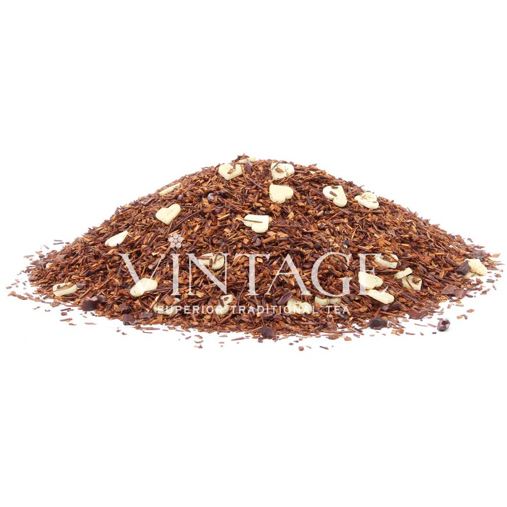 Ройбуш Сердцеедки (чай фруктовый ароматизированный)Весовой чай<br>Ройбуш Сердцеедки(чай фркутовыйароматизированный)<br><br><br><br><br><br><br><br><br><br>Время заваривания<br>Температура заваривания<br>Количество заварки<br><br><br><br>Рекомендуемое время заваривания 6-7мин.<br><br><br>Рекомендуемая температура заваривания 90-95 °С<br><br><br>Рекомендуемое количество заварки 4-5гр из расчета на 200-300мл.<br><br><br><br><br><br>Состав: ройбуш, кусочки плодов какао-дерева и сердечки из белого шоколада.<br>Описание:ройбуш, кусочки плодов какао-дерева и сердечки из белого шоколада. Плоды какао содержат флавоноиды снижающие кровяное давление, понижающие уровень холестерина. Классический вкус ройбуша дополняют шоколадные оттенки плодов какао.<br>