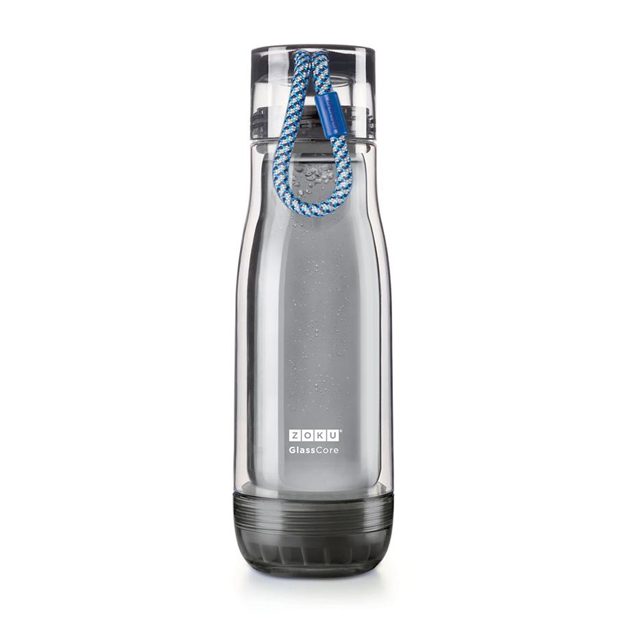 Бутылка Zoku Active 480 мл синяя ZK128-AC-BLБутылочки<br>Бутылка Zoku Active 480 мл синяя ZK128-AC-BL<br><br>Компактная бутылка Zoku Active идеально подойдет для тех кто регулярно занимается спортом и любит активный образ жизни. Герметичная конструкция защитит напитки от пролития а силиконовые накладки не дадут изделию разбиться при падении. В качестве основного материала изготовления производителем было использовано боросиликатное стекло за счет чего бутылка имеет не только привлекательный внешний вид но и высокую износостойкость. В нее можно налить как холодные так и горячие напитки температура которых будет поддерживаться длительное время благодаря плотной фиксации крышки и двойным стенкам корпуса. Доступные цветовые решения: красный голубой синий зеленый фиолетовый.<br>