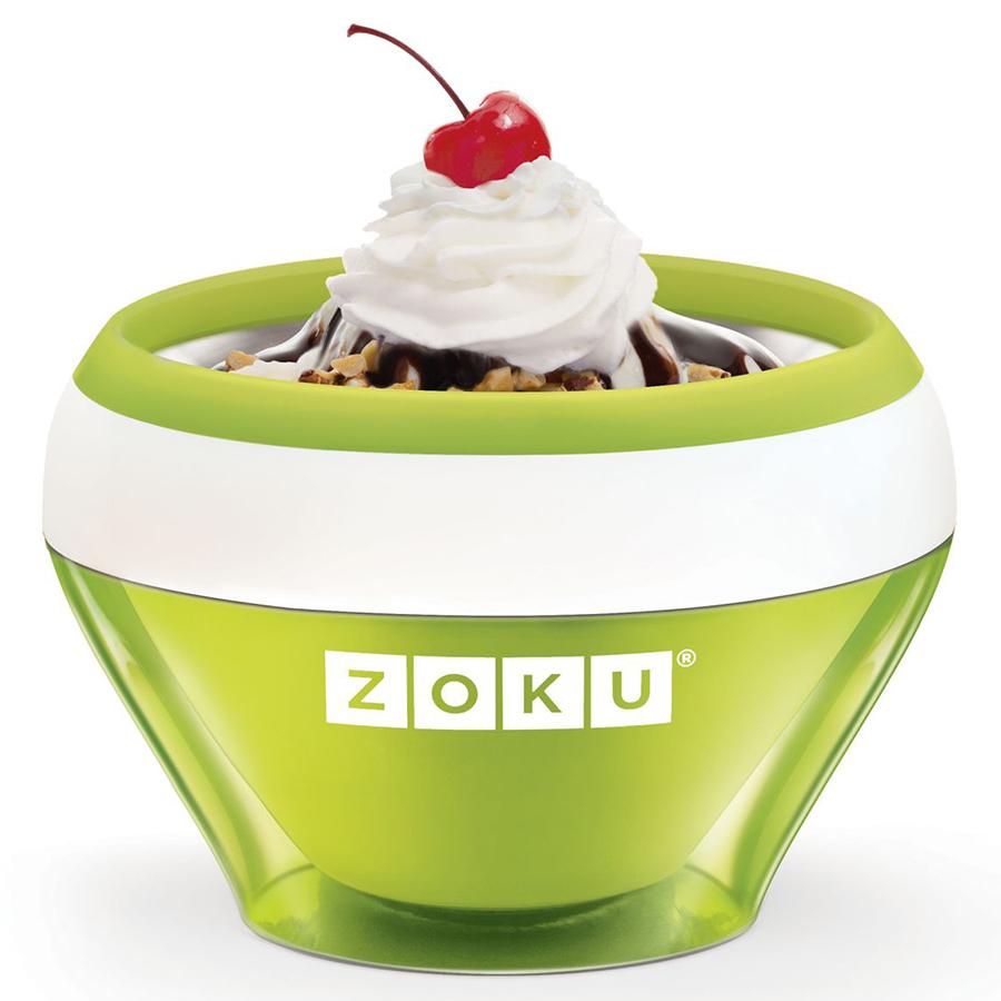 Мороженица Zoku Ice Cream Maker зеленая ZK120-GNПосуда для приготовления<br>Мороженица Zoku Ice Cream Maker зеленая ZK120-GN<br><br>С помощью компактного Ice Cream Maker вы сможете быстро и без усилий приготовить натуральные домашние десерты: мороженое сорбет щербет замороженный йогурт заварной крем и прочие лакомства. А благодаря уникальной технологии насладиться готовым продуктом можно будет уже через 10 минут после установки формы в морозильную камеру!  Почувствуйте себя настоящим профессионалом – создавайте вкусные и полезные десерты на основе натуральных ингредиентов. Комбинируйте вкусовые добавки и украшайте готовое мороженное фруктами сладкими или пряными присыпками орехами и шоколадом. С данным аппаратом вы сможете воплотить любую свою фантазию так что экспериментируйте и радуйте родных кулинарными шедеврами! Доступные цветовые решения: красный оранжевый синий голубой зеленый фиолетовый.<br>