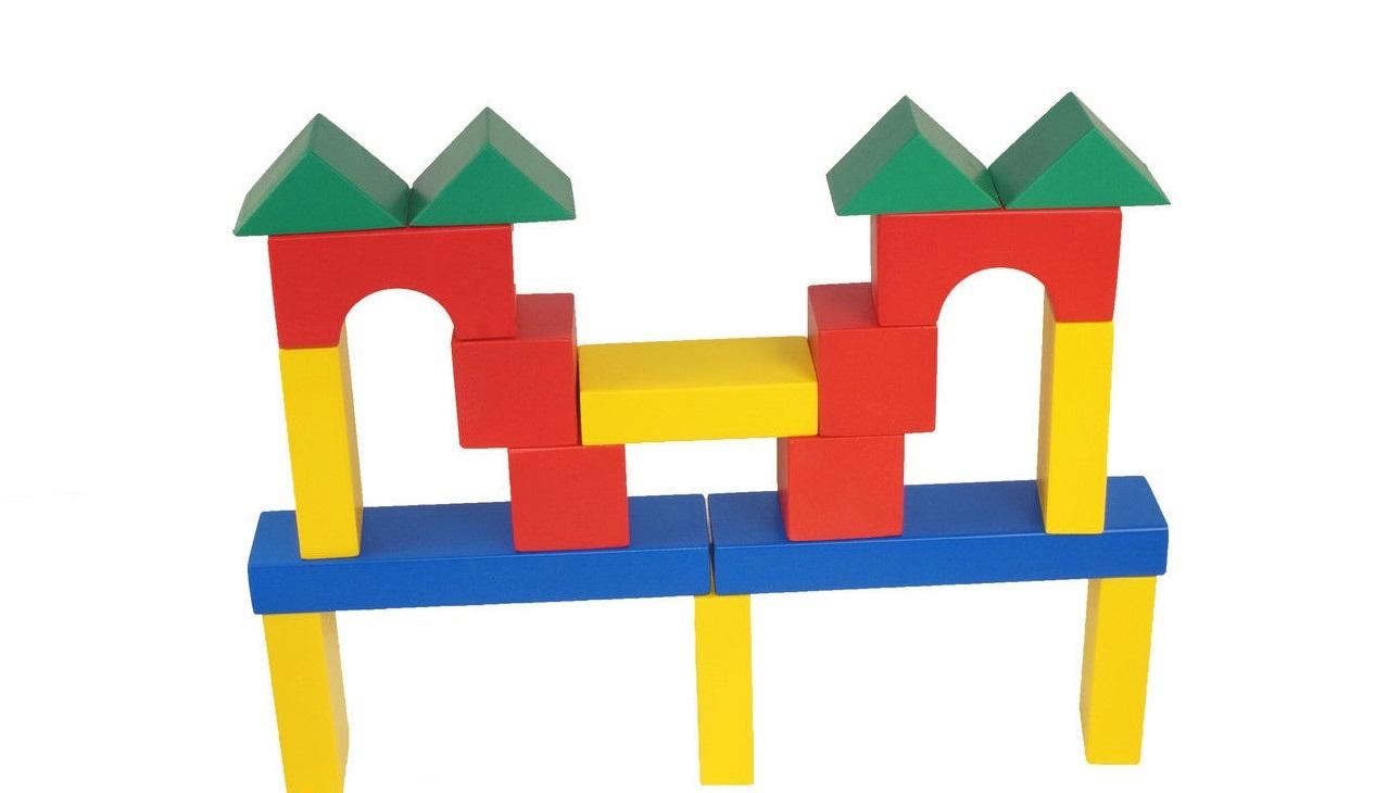 Схема конструирования машины из деревянного конструктора томик