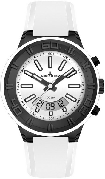 Jacques Lemans 1-1786J - мужские наручные часы из коллекции SportJacques Lemans<br><br><br>Бренд: Jacques Lemans<br>Модель: Jacques Lemans 1-1786J<br>Артикул: 1-1786J<br>Вариант артикула: None<br>Коллекция: Sport<br>Подколлекция: None<br>Страна: Австрия<br>Пол: мужские<br>Тип механизма: кварцевые<br>Механизм: None<br>Количество камней: None<br>Автоподзавод: None<br>Источник энергии: от батарейки<br>Срок службы элемента питания: None<br>Дисплей: стрелки + цифры<br>Цифры: отсутствуют<br>Водозащита: WR 20<br>Противоударные: None<br>Материал корпуса: нерж. сталь, IP покрытие (полное)<br>Материал браслета: силикон<br>Материал безеля: None<br>Стекло: Crystex<br>Антибликовое покрытие: None<br>Цвет корпуса: None<br>Цвет браслета: None<br>Цвет циферблата: None<br>Цвет безеля: None<br>Размеры: 45 мм<br>Диаметр: None<br>Диаметр корпуса: None<br>Толщина: None<br>Ширина ремешка: None<br>Вес: None<br>Спорт-функции: секундомер<br>Подсветка: дисплея, стрелок<br>Вставка: None<br>Отображение даты: число, месяц<br>Хронограф: None<br>Таймер: None<br>Термометр: None<br>Хронометр: None<br>GPS: None<br>Радиосинхронизация: None<br>Барометр: None<br>Скелетон: None<br>Дополнительная информация: None<br>Дополнительные функции: None