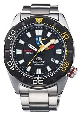 Orient EL0A001B / SEL0A001B0 - мужские наручные часыORIENT<br><br><br>Бренд: ORIENT<br>Модель: ORIENT EL0A001B<br>Артикул: EL0A001B<br>Вариант артикула: SEL0A001B0<br>Коллекция: None<br>Подколлекция: None<br>Страна: Япония<br>Пол: мужские<br>Тип механизма: механические<br>Механизм: 40N5A<br>Количество камней: None<br>Автоподзавод: есть<br>Источник энергии: пружинный механизм<br>Срок службы элемента питания: None<br>Дисплей: стрелки<br>Цифры: отсутствуют<br>Водозащита: WR 200<br>Противоударные: None<br>Материал корпуса: нерж. сталь, PVD покрытие (частичное)<br>Материал браслета: нерж. сталь<br>Материал безеля: None<br>Стекло: сапфировое<br>Антибликовое покрытие: None<br>Цвет корпуса: None<br>Цвет браслета: None<br>Цвет циферблата: None<br>Цвет безеля: None<br>Размеры: 45x13.6 мм<br>Диаметр: None<br>Диаметр корпуса: None<br>Толщина: None<br>Ширина ремешка: None<br>Вес: None<br>Спорт-функции: None<br>Подсветка: стрелок<br>Вставка: None<br>Отображение даты: число<br>Хронограф: None<br>Таймер: None<br>Термометр: None<br>Хронометр: None<br>GPS: None<br>Радиосинхронизация: None<br>Барометр: None<br>Скелетон: None<br>Дополнительная информация: None<br>Дополнительные функции: индикатор запаса хода