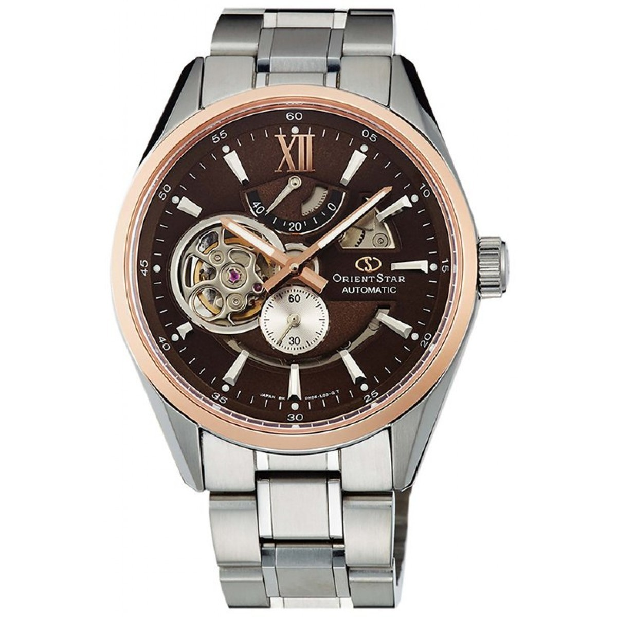 Orient DK05005T / SDK05005T0 - мужские наручные часыORIENT<br><br><br>Бренд: ORIENT<br>Модель: ORIENT DK05005T<br>Артикул: DK05005T<br>Вариант артикула: SDK05005T0<br>Коллекция: None<br>Подколлекция: None<br>Страна: Япония<br>Пол: мужские<br>Тип механизма: механические<br>Механизм: None<br>Количество камней: None<br>Автоподзавод: есть<br>Источник энергии: пружинный механизм<br>Срок службы элемента питания: None<br>Дисплей: стрелки<br>Цифры: римские<br>Водозащита: WR 100<br>Противоударные: None<br>Материал корпуса: нерж. сталь, покрытие: позолота (частичное)<br>Материал браслета: нерж. сталь<br>Материал безеля: None<br>Стекло: сапфировое<br>Антибликовое покрытие: None<br>Цвет корпуса: None<br>Цвет браслета: None<br>Цвет циферблата: None<br>Цвет безеля: None<br>Размеры: 41 мм<br>Диаметр: None<br>Диаметр корпуса: None<br>Толщина: None<br>Ширина ремешка: None<br>Вес: None<br>Спорт-функции: None<br>Подсветка: стрелок<br>Вставка: None<br>Отображение даты: None<br>Хронограф: None<br>Таймер: None<br>Термометр: None<br>Хронометр: None<br>GPS: None<br>Радиосинхронизация: None<br>Барометр: None<br>Скелетон: None<br>Дополнительная информация: None<br>Дополнительные функции: None
