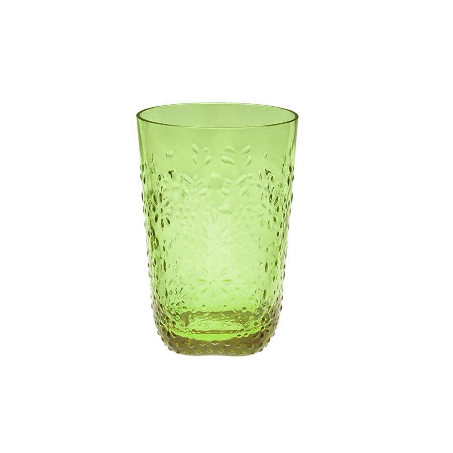 Floral Серия стекла Floral / Цветочный (Casa Alegre)<br>Floral Стакан для вина цвет зеленый<br>Высота 115 мм, емкость 320 мл<br>Материал - стекло<br>Бренд Casa Alegre<br>Производитель: Vista Alegre Atlantis, Португалия<br>