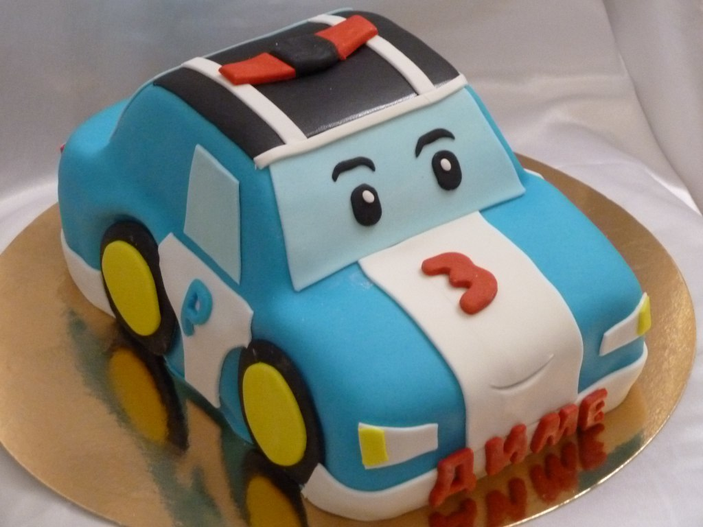Как сделать торт робокар поли
