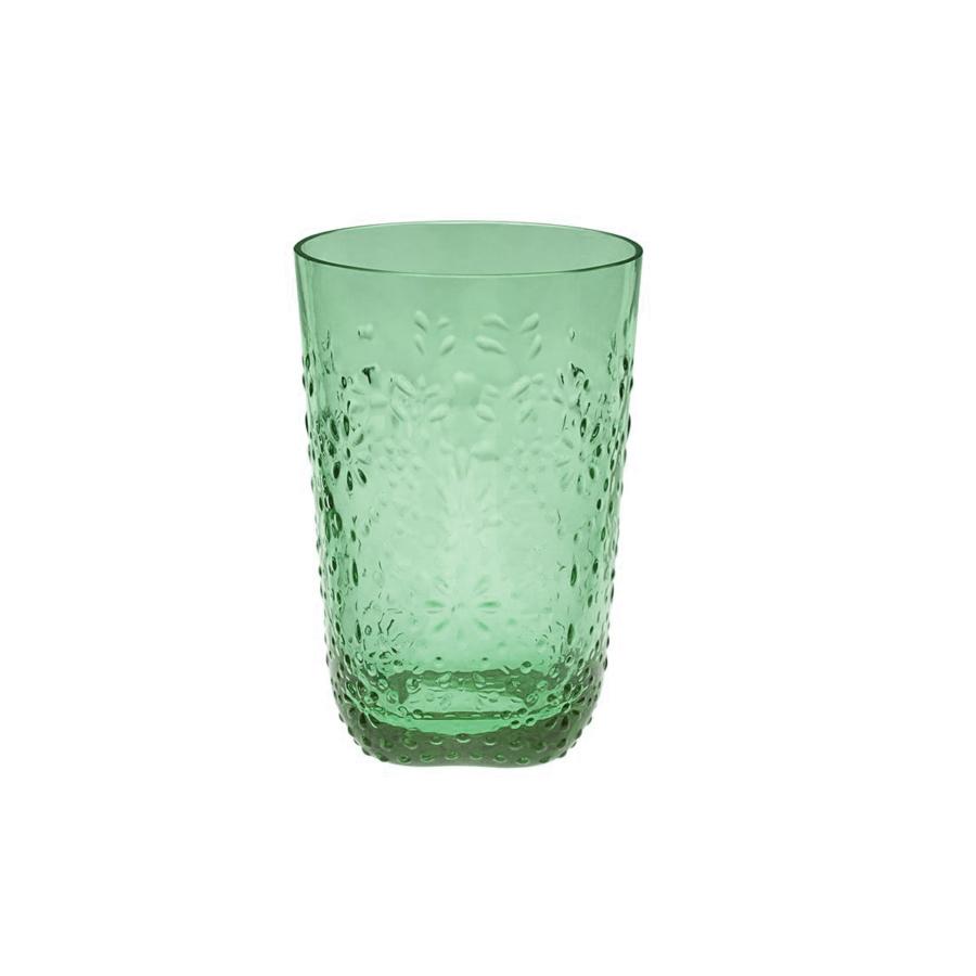 Floral Серия стекла Floral / Цветочный (Casa Alegre)<br>Floral Стакан для вина цвет мяты<br>Высота 115 мм, емкость 320 мл<br>Материал - стекло<br>Бренд Casa Alegre<br>Производитель: Vista Alegre Atlantis, Португалия<br>