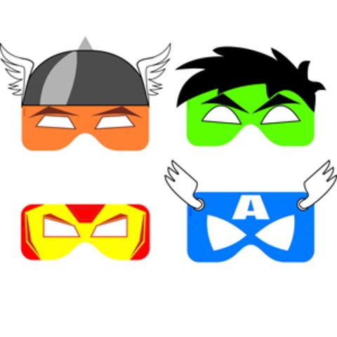 Как сделать из бумаги маски супергероев
