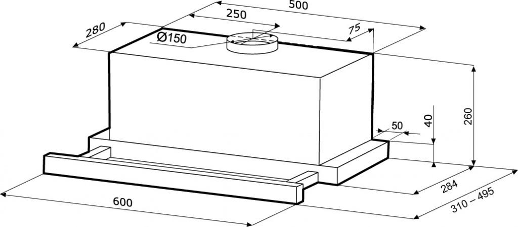 Вытяжка крона камилла 600 схема