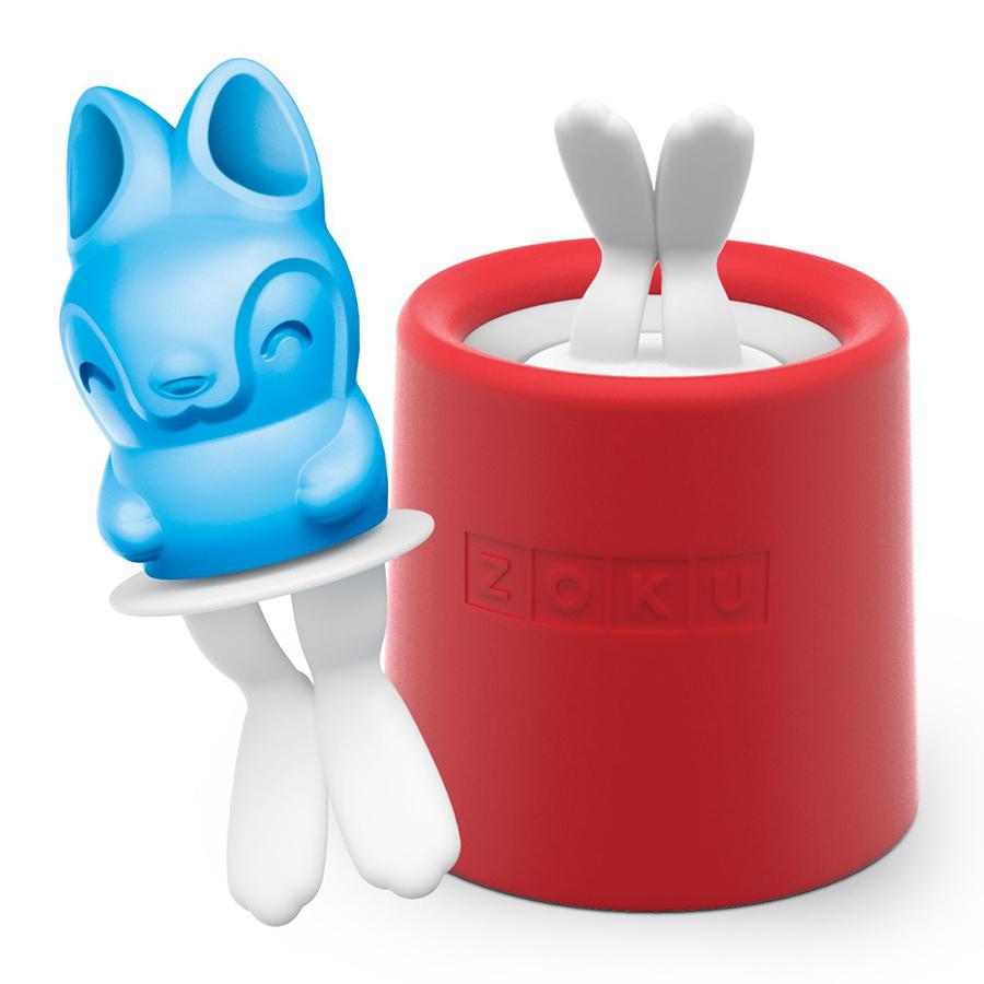 Форма для мороженого Zoku Bunny Ice ZK123-013Посуда для приготовления<br>Форма для мороженого Zoku Bunny Ice ZK123-013<br><br>Уникальная коллекция формочек для замороженного сока Ice Pop Mold включает в себя 8 разных фигурок с помощью которых вы сможете готовить вкусные и полезные домашние десерты. Теперь каждому члену семьи достанется свой персонаж и не придется путаться в том кому и какое лакомство принадлежит.  Формы крайне просты в использовании. Для приготовления десерта достаточно предварительно охладить емкость после чего залить туда готовую жидкость и оставить в морозильной камере на 7-9 минут. Ваше угощение готово! В серию входят: лягушка птичка еж котенок черепаха кролик сова и принцесса.<br>