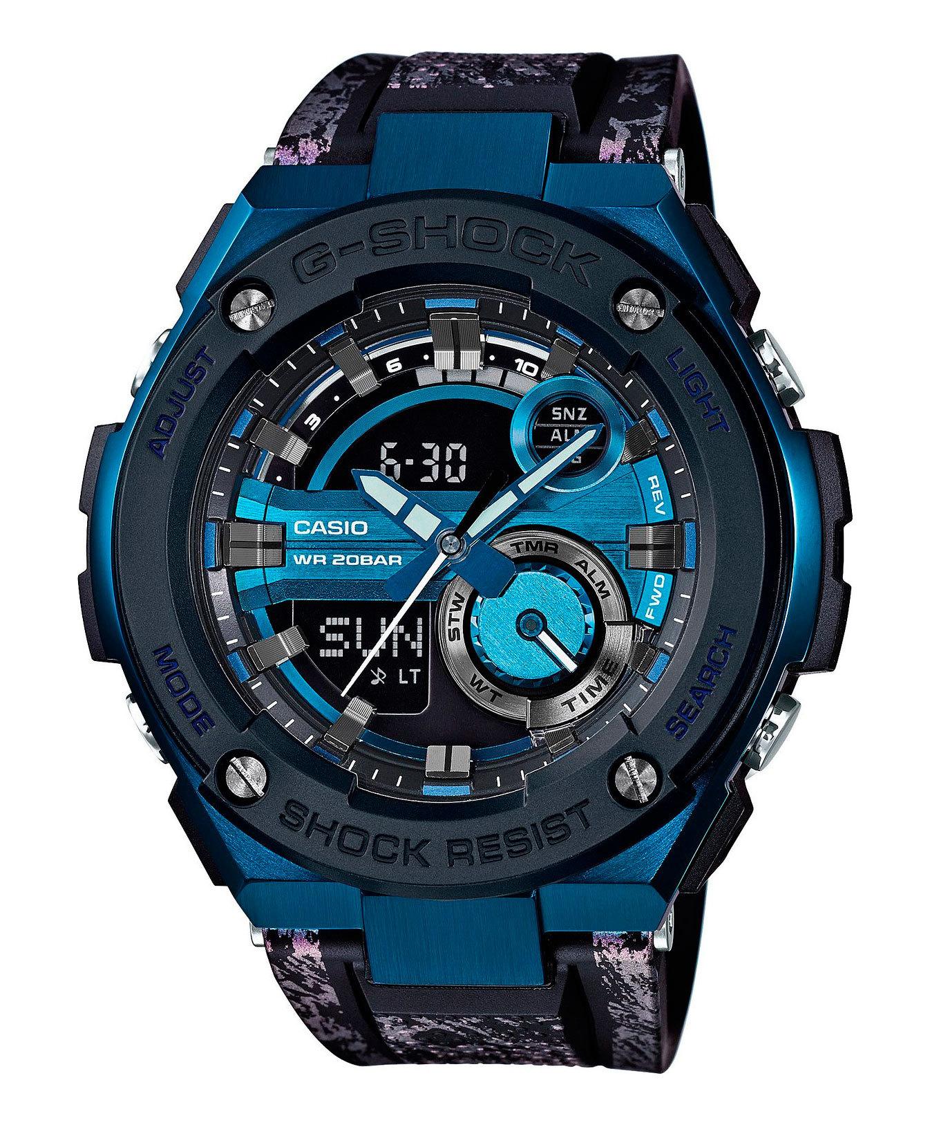 Casio G-SHOCK GST-200CP-2A / GST-200CP-2AER - мужские наручные часыCasio<br><br><br>Бренд: Casio<br>Модель: Casio GST-200CP-2A<br>Артикул: GST-200CP-2A<br>Вариант артикула: GST-200CP-2AER<br>Коллекция: G-SHOCK<br>Подколлекция: None<br>Страна: Япония<br>Пол: мужские<br>Тип механизма: кварцевые<br>Механизм: None<br>Количество камней: None<br>Автоподзавод: None<br>Источник энергии: от батарейки<br>Срок службы элемента питания: None<br>Дисплей: стрелки + цифры<br>Цифры: None<br>Водозащита: WR 200<br>Противоударные: есть<br>Материал корпуса: нерж. сталь + пластик<br>Материал браслета: каучук<br>Материал безеля: None<br>Стекло: минеральное<br>Антибликовое покрытие: None<br>Цвет корпуса: None<br>Цвет браслета: None<br>Цвет циферблата: None<br>Цвет безеля: None<br>Размеры: 52.4x59.1x16.1 мм<br>Диаметр: None<br>Диаметр корпуса: None<br>Толщина: None<br>Ширина ремешка: None<br>Вес: 195 г<br>Спорт-функции: секундомер, таймер обратного отсчета<br>Подсветка: дисплея, стрелок<br>Вставка: None<br>Отображение даты: вечный календарь, число, месяц, день недели<br>Хронограф: None<br>Таймер: None<br>Термометр: None<br>Хронометр: None<br>GPS: None<br>Радиосинхронизация: None<br>Барометр: None<br>Скелетон: None<br>Дополнительная информация: None<br>Дополнительные функции: второй часовой пояс, будильник (количество установок: 5)