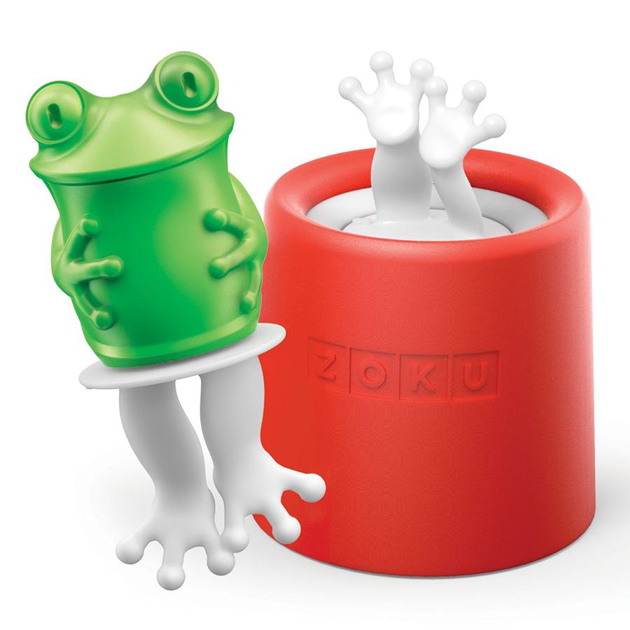 Форма для мороженого Zoku Frog ZK123-011Посуда для приготовления<br>Форма для мороженого Zoku Frog ZK123-011<br><br>Уникальная коллекция формочек для замороженного сока Ice Pop Mold включает в себя 8 разных фигурок с помощью которых вы сможете готовить вкусные и полезные домашние десерты. Теперь каждому члену семьи достанется свой персонаж и не придется путаться в том кому и какое лакомство принадлежит.  Формы крайне просты в использовании. Для приготовления десерта достаточно предварительно охладить емкость после чего залить туда готовую жидкость и оставить в морозильной камере на 7-9 минут. Ваше угощение готово! В серию входят: лягушка птичка еж котенок черепаха кролик сова и принцесса.<br>