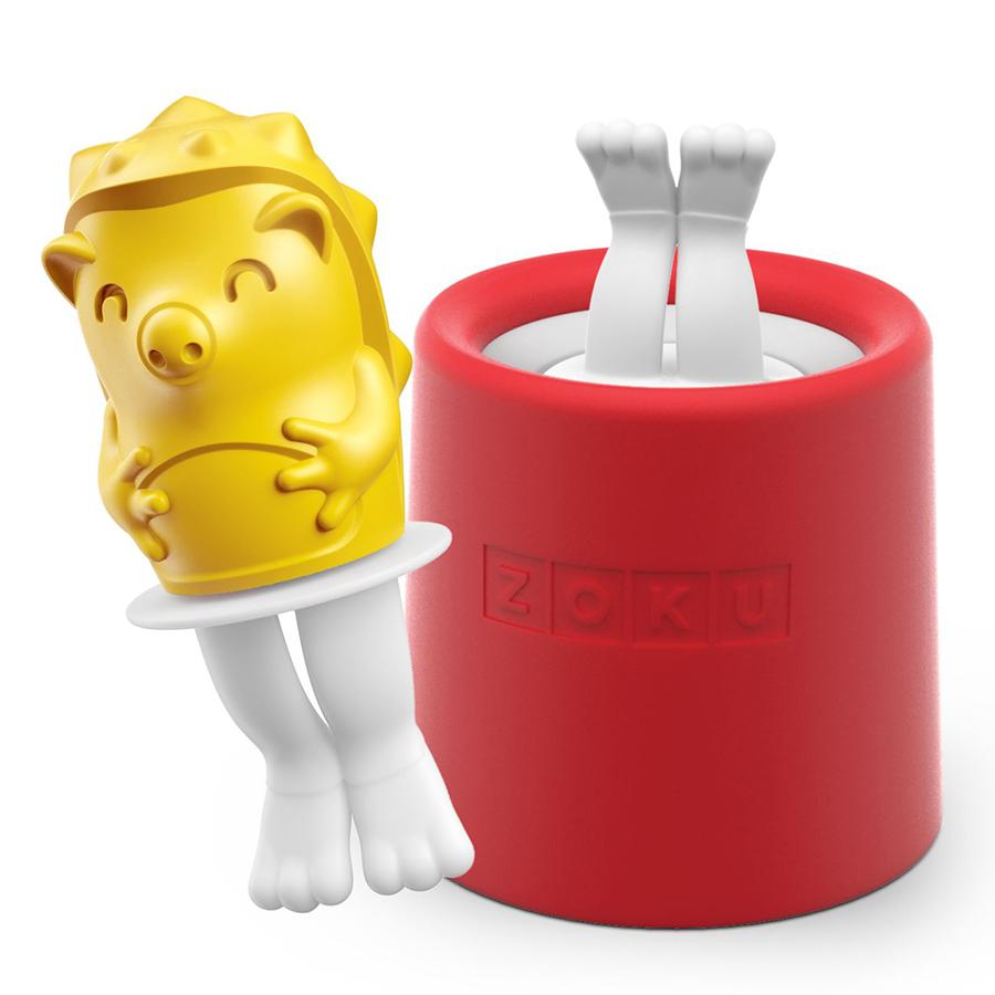 Форма для мороженого Zoku Hedgehog ZK123-010Посуда для приготовления<br>Форма для мороженого Zoku Hedgehog ZK123-010<br><br>Уникальная коллекция формочек для замороженного сока Ice Pop Mold включает в себя 8 разных фигурок с помощью которых вы сможете готовить вкусные и полезные домашние десерты. Теперь каждому члену семьи достанется свой персонаж и не придется путаться в том кому и какое лакомство принадлежит.  Формы крайне просты в использовании. Для приготовления десерта достаточно предварительно охладить емкость после чего залить туда готовую жидкость и оставить в морозильной камере на 7-9 минут. Ваше угощение готово! В серию входят: лягушка птичка еж котенок черепаха кролик сова и принцесса.<br>