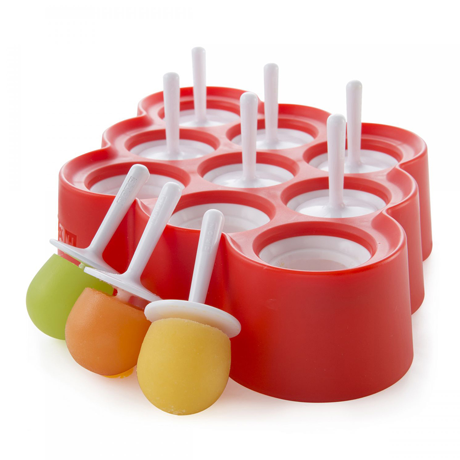 Форма для мороженого Zoku Mini 9 шт. ZK115Посуда для приготовления<br>Форма для мороженого Zoku Mini 9 шт. ZK115<br><br>При помощи компактной формы Mini Pop Mold вы сможете быстро и без усилий создавать вкуснейшие десерты на основе натуральных ингредиентов. Для этого достаточно всего лишь предварительно охладить устройство в морозильной камере вставить в специальные отверстия порционные палочки и залить формы жидкостью. Благодаря инновационной системе готовый продукт вы получите уже через 7 минут! И для этого не нужно использовать никаких дополнительных приспособлений! Украсьте вечеринку или семейный ужин оригинальными лакомствами – порадуйте своих близких друзей и знакомых. Форма рассчитана на 9 порций.<br>